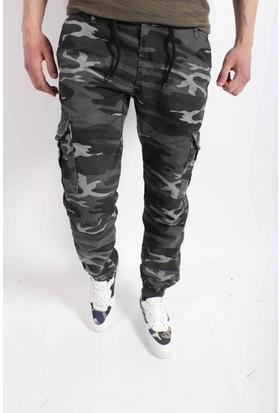 Oksit Paçası Ve Beli Lastikli Bağcıklı Erkek Kargo Pantolon-Y204