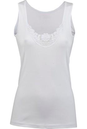 Gürlesin Bayan Güpürlü Atlet 21334 3Xl - Beyaz