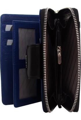 dc5066e7f65da ... Gd 2716-S-M Grande Siyah-Mavi Hakiki Deri Bayan Cüzdan - Kartlık ...