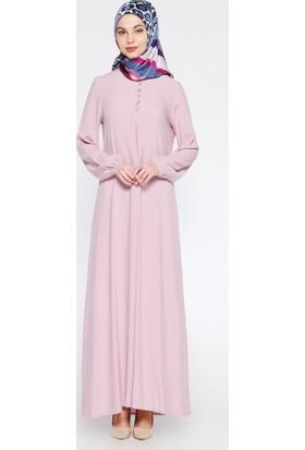 Birit Detaylı Elbise - Lila - Ginezza