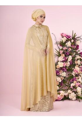 Doğay Abiye Elbise - Gold - Minel Aşk