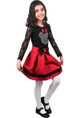 Modakids Kız Çocuk Kolları Tülü Mickeyli Etekli Takım 037-874189 - 002