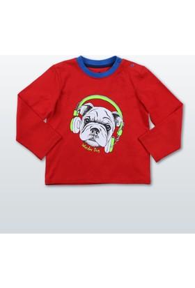 Wonder Kids Erkek Bebek Uzun Kollu T-Shirt WK17W1301-Kırmızı