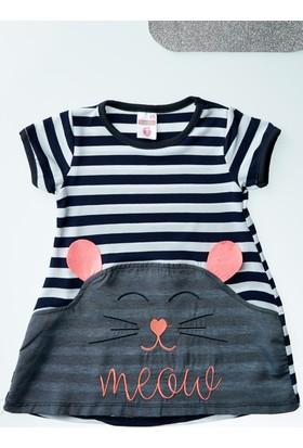 FullaModa Kız Çocuk Çizgili Elbise 17Y17AKKU0001