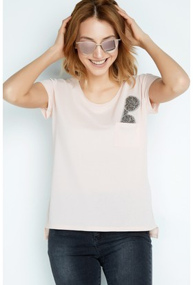FullaModa Taşlı T-Shirt 17YBUSEM0084