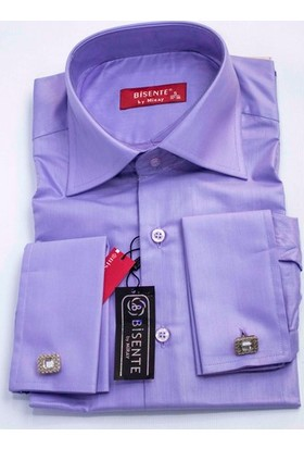 Bisente Kol Düğmeli Düz Erkek Gömlek BS42055