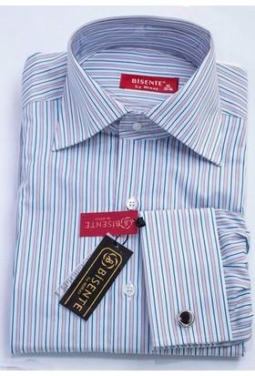 Bisente Kol Düğmeli Erkek Gömlek BS42110
