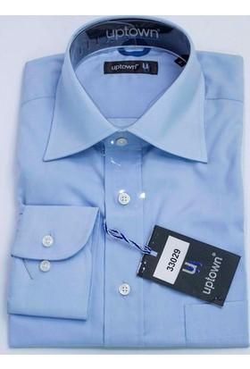 Uptown Pamuklu Klasik Kesim Uzun Kollu Cepli Gömlek UP7212