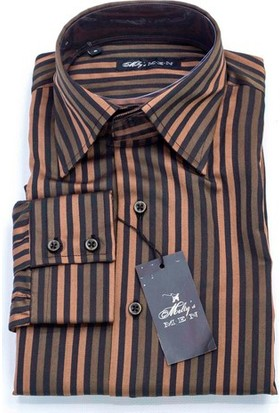 Melty's Pamuklu Slim Fit Uzun Kollu Çizgili Gömlek M11030