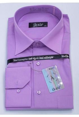 İksir Erkek Düz Rahat Kalıp Uzun Kollu Cepli Gömlek İK2010