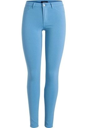 Pıeces Bayan Likralı Mavi Pantolon 17080339 Slım-Fıt Jeans