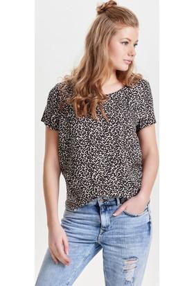 Only Bayan Kısa Kollu Tişört 15138761 Prınted Short Sleeved Top