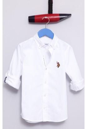 U.S. Polo Assn. Erkek Çocuk Cedcolorkids17Y Gömlek Beyaz