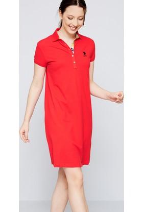 U.S. Polo Assn. Kadın Tp01İy07-075 Elbise Kırmızı