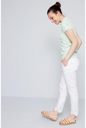 U.S. Polo Assn. Kadın Rp01İy07-011 T-Shirt Açık Yeşil