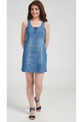 Vena Shelby Med Denim Elbise Mavi 1402850
