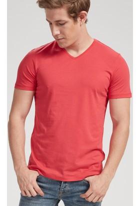 Vena Steve V Yaka T-Shirt Kırmızı 1402738