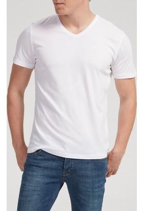 Vena Steve V Yaka T-Shirt Beyaz 1402735