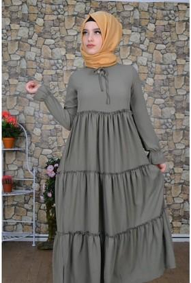 Modayns Fırfırlı Elbise