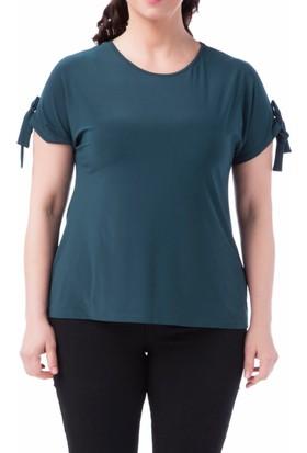 Francesca Ettore SF-1212 Yeşil Büyük Beden Bayan Bluz