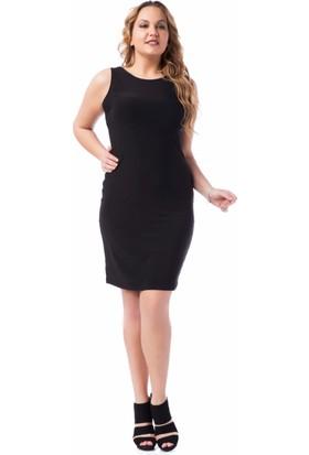 Francesca Ettore SF-1607 Siyah Büyük Beden Bayan Elbise