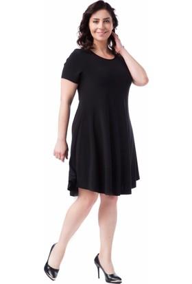 Francesca Ettore SF-1609 Siyah Büyük Beden Bayan Elbise