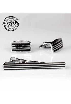 Ejoya Kravat İğnesi Kol Düğmesi Takım Tk901