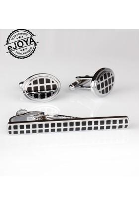 Ejoya Kravat İğnesi Kol Düğmesi Takım Tk902
