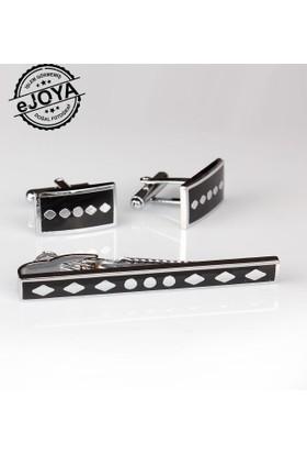Ejoya Kravat İğnesi Kol Düğmesi Takım Tk903