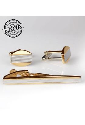 Ejoya Kravat İğnesi Kol Düğmesi Takım Tk906