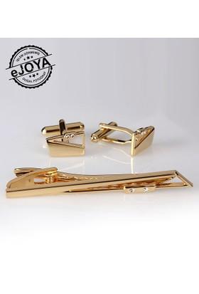 Ejoya Kravat İğnesi Kol Düğmesi Takım Tk907