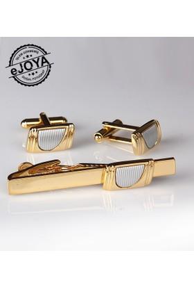 Ejoya Kravat İğnesi Kol Düğmesi Takım Tk908