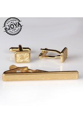 Ejoya Kravat İğnesi Kol Düğmesi Takım Tk910
