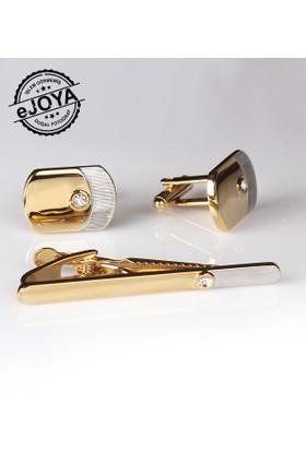 Ejoya Kravat İğnesi Kol Düğmesi Takım Tk911