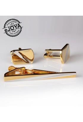 Ejoya Kravat İğnesi Kol Düğmesi Takım Tk912