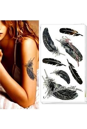 Leydika Siyah Tüy Geçici Dövme Black Tattoo 525