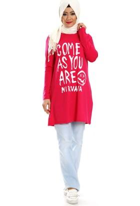 Al-Marwah Lovely Bluz 60179 Fuşya