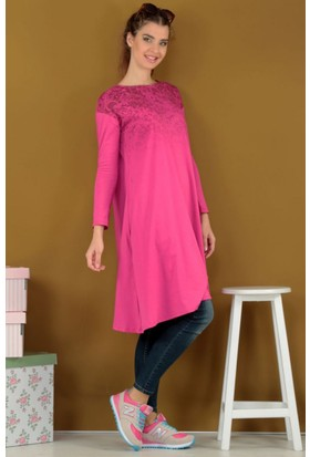 Dide Dide Ghost Design Tunik D021640 Bordo