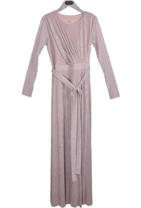 Stillife Kadın 8722 Simli Çizgili Elbise 17-1