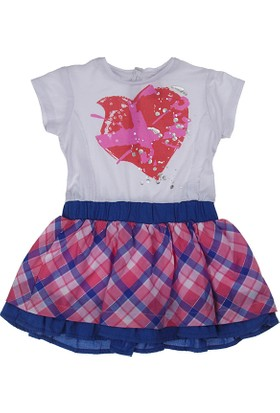 Kanz Kız Çocuk 151-3138 Kısa Kol Elbise