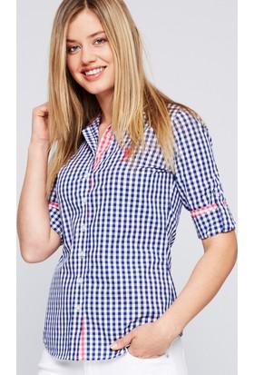 U.S. Polo Assn. Kadın Burbank Gömlek Lacivert