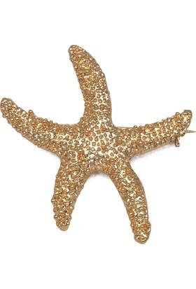 Modex Altın Kaplama Denizyıldızı Broş