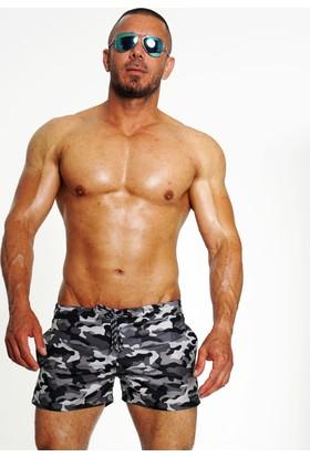 Boomenbex Grey Navy Erkek Mayo Şort