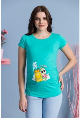 Gör&Sin Turist Bebek Kısa Kol Hamile T-Shirt Mint