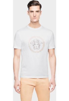 Guice Paris Versace Classic Medusa Printed Model Erkek T-Shirt - Beyaz