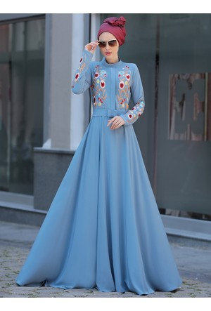 Mila Elbise - Mavi - Selma Sarı Design