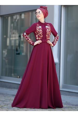 Mila Elbise - Mürdüm - Selma Sarı Design