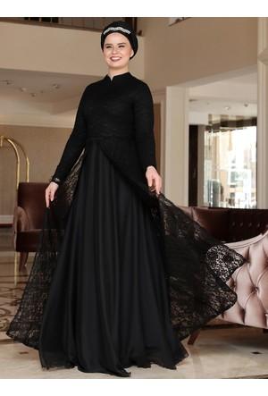 Efsun Abiye Elbise - Siyah - Saliha