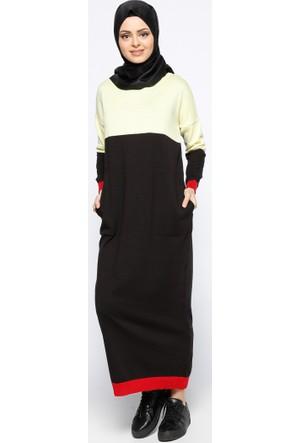 Mevsimlik Elbise - Sarı Siyah - Zentoni