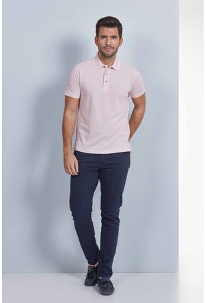 Hemington Polo Yaka Pamuk Pembe T-Shirt